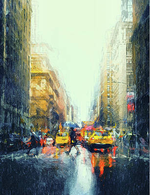 Digital Art - New York City Street Drips 2 by Yury Malkov