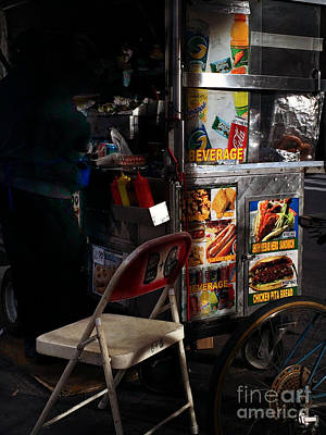 Photograph - New York City Street Food - Light And Shadow by Miriam Danar