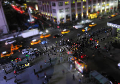 Times Square Photograph - New York City Street Miniature by Nicklas Gustafsson
