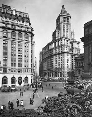 Photograph - New York City Street Scene by Underwood & Underwood