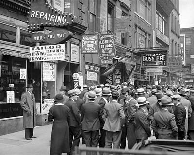 Gathering Photograph - New York City Street Scene by Underwood Archives