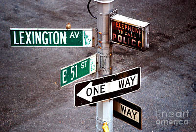 Photograph - New York City - Street Signs - Lexington Av And E 51 St by Carlos Alkmin
