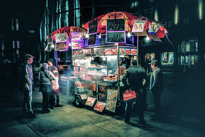 Painting - New York City Street Vendor by Christopher Arndt