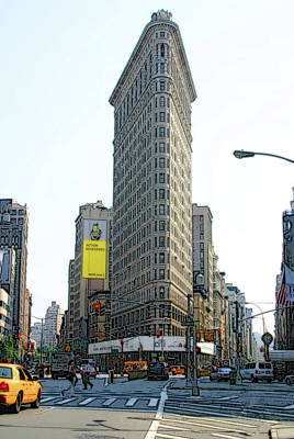 Photograph - New York City Streets - Flat Iron Building by Ericamaxine Price