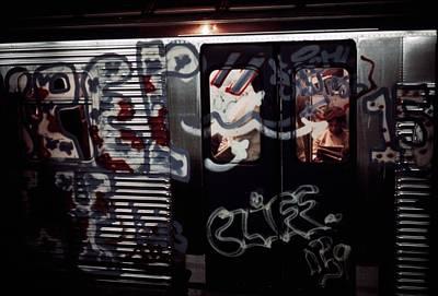 New York City Subway. A Subway Car Art Print by Everett