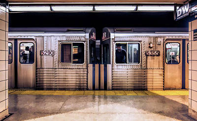 Painting - New York City Subway Cars by Christopher Arndt