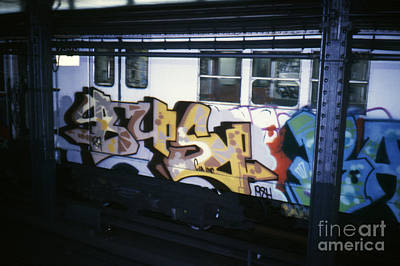 Subway Art Photograph - New York City Subway Graffiti by The Harrington Collection