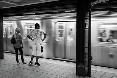 Photograph - New York City Subway Train by Ranjay Mitra