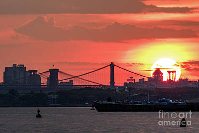 Photograph - New York City Sunrise by Zawhaus Photography