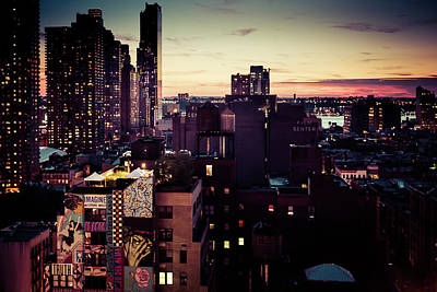 Photograph - New York City Sunset by Lora Lee Chapman
