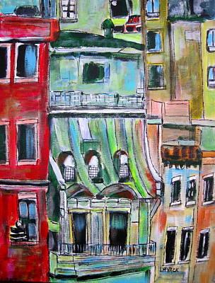 Litvack Painting - New York City Tenements by Michael Litvack