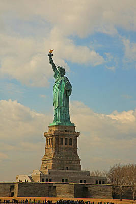 Photograph - New York City The Statue Of Liberty by Ronald Olivier