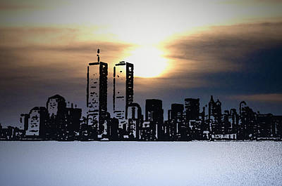 Wtc Sunsets Photograph - New York City - The Way We Were by Bill Cannon