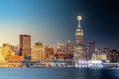 Photograph - New York City Timelapse by Mihai Andritoiu