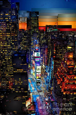 Digital Art - New York City - Times Square by Rafael Salazar