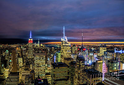Photograph - New York City Twilight by Rafael Quirindongo