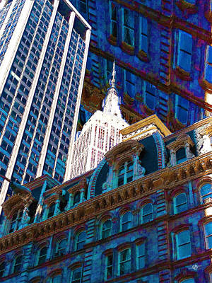 New York City Up Is Down Down Is Up Blue Original by Tony Rubino