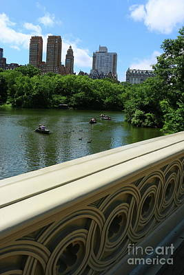 Photograph - New York City View From Bow Bridge by Christiane Schulze Art And Photography