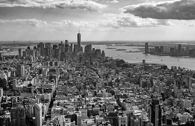 Photograph - New York City - View From Empire State Building by Sabine Konhaeuser