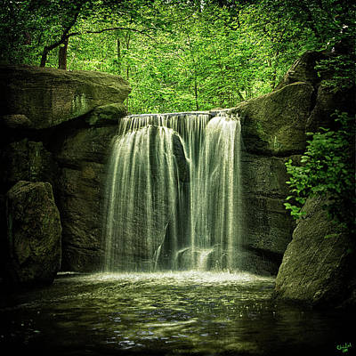 Photograph - New York City Waterfall by Chris Lord