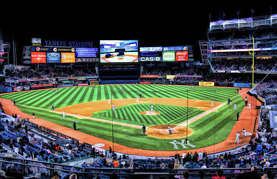 Painting - New York City Yankee Stadium by Christopher Arndt