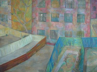 Wall Art - Painting - New York City Yards by Inge Klimpt
