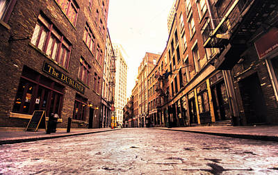 Escape Photograph - New York City's Stone Street by Vivienne Gucwa