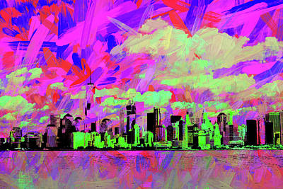Digital Art - New York Cityscape 1 by Roger Lighterness
