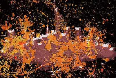 Mapping Mixed Media - New York Cityscape 10a by Brian Reaves
