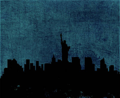 Statue Of Liberty Mixed Media - New York Cityscape 11a by Brian Reaves