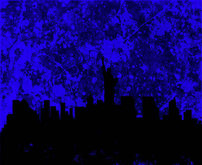 Mapping Mixed Media - New York Cityscape 5a by Brian Reaves