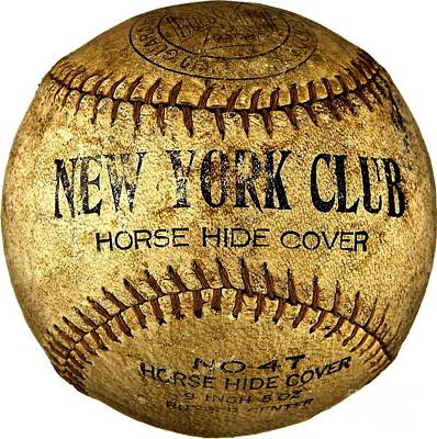 Photograph - New York Club Basball Circa 1918 by Peter Gumaer Ogden