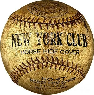 Photograph - New York Club Basball Circa 1918 by Peter Ogden