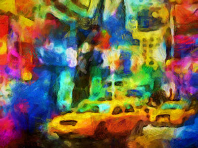 Painting - New York Colorstorm by Lutz Baar