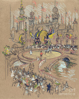Drawing - New York, Coney Island, C1906.  by Granger