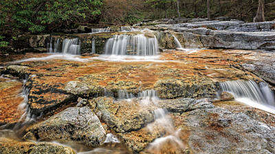 Waterfall Photograph - New York Cool Mountain Stream by Bill Wakeley