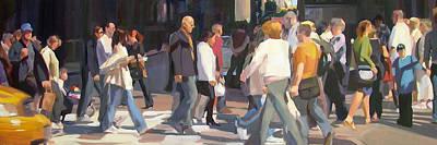 New York Crosswalk Art Print by Merle Keller