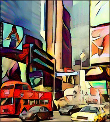 Digital Art - New York Cubism by Yury Malkov