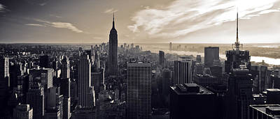 Sepia Photograph - New York by Dave Bowman