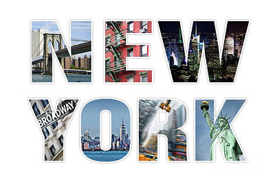 City Scenes Royalty-Free and Rights-Managed Images - New York by Delphimages Photo Creations