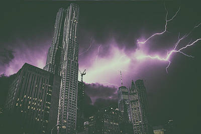 New York Electrical Storm Art Print