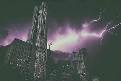 New York Electrical Storm Art Print