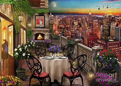 New York Digital Art - New York Evening by MGL Meiklejohn Graphics Licensing