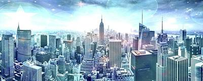 A White Christmas Cityscape - New York Fairytales by Az Jackson
