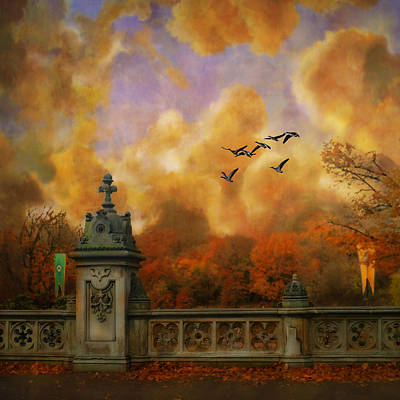 Realism Photograph - New York Fall - Central Park by Jeff Burgess