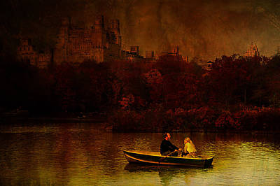 Rowboat Digital Art - New York Fall by Jeff Burgess