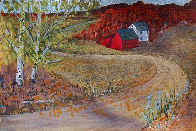 Painting - New York Fall Valley by Robert Harrington