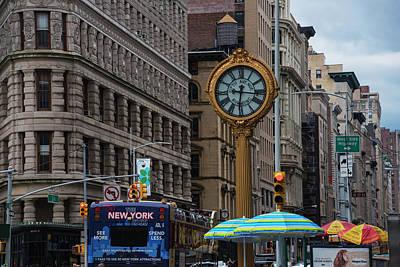 New York Fifth Avenue Clock Flatiron Building Art Print