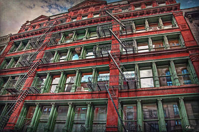 Photograph - New York Fire Escapes by Hanny Heim