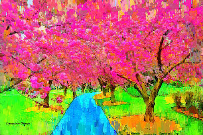 Fall Digital Art - New York Flower - Da by Leonardo Digenio